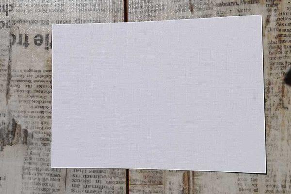 Papier mit Leinenstruktur weiß